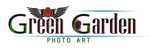 green garden photo art