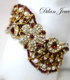 Buy Beaded Ruby Armlet bajuband online