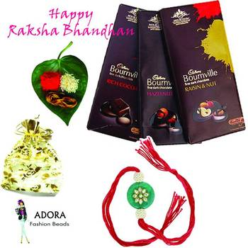 Awesome Super Rakhi Package with chocolates