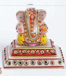 Buy Bejewelled pure Marble Ganesh with Enamel work other-home-accessory online