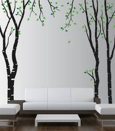 Buy birch-tree-wall-decal-with-leaves wall-decal online