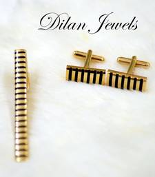 Buy Stripe Gold Cuffs Set gifts-for-him online