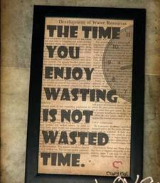 Buy Wasted time frame  wall-art online