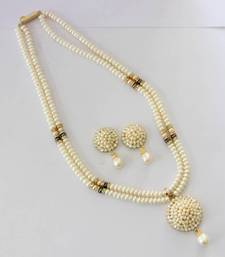 REAL PEARLS DOUBLE STRING WHITE PEARLS SET shop online