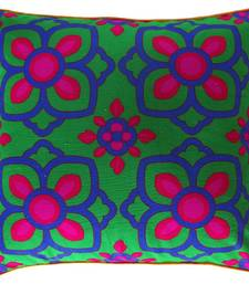Buy Beautiful Blue Pink Flower Cushion Cover pillow-cover online