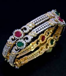 Buy BEAUTIFUL CZ STONE STUDDED BANGLES bangles-and-bracelet online