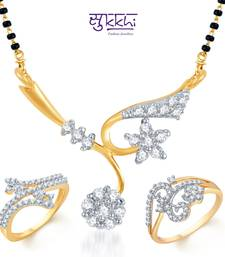 Buy Sukkhi Graceful Gold & Rhodium Plated CZ Combo jewellery-combo online