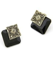 Buy Elegant Black Square Studs gifts-for-her online