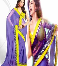 Buy BOLLYWOOD DESIGNER CHIFFONE SAREE deepika-padukone-saree online