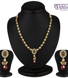 Buy Sukkhi Briliant Gold & Gold Plated CZ Rodo Light Necklace Set necklace-set online