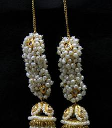 Buy REAL FRESH WATER PEARLS BIG JHUMKA Other online