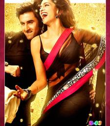 Buy Bollywood Replica Deepika Padukone Black Net Saree deepika-padukone-saree online
