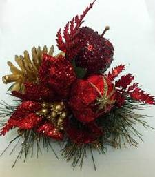 Buy Red glitter apple for Christmas gifts and decoration christmas-gift online
