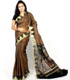 Buy SUPERNET FANCY TANCHOOI PRINTED AANCHALSAREE supernet-saree online