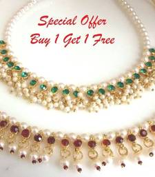 Buy New offer buy 1 get 1 free pearl necklace necklace-set online