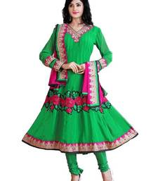Fabulous Green Semi-Stitched Georgette Embroidered Anarkali suit D.No ZO7504 shop online