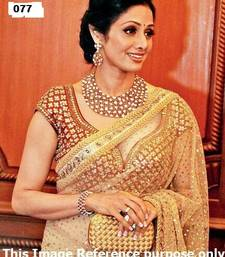 Buy Bollywood Replica Shree Devi Foil Print heavy work saree sridevi-saree online