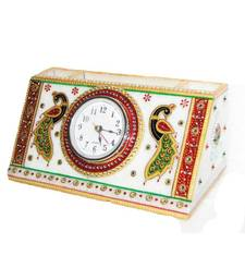 Buy Marble pen stand with clock birthday-gift online
