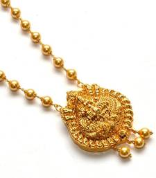 Buy Anvi's lakshmi pendent with pearl chain  south-indian-jewellery online