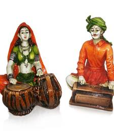 Buy Rajasthnai Couples Playing Tabla & Harmonium housewarming-gift online