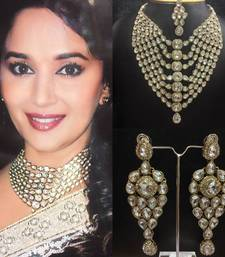 Buy Dazzling Bollywood Kundan Necklace Set bridal-set online