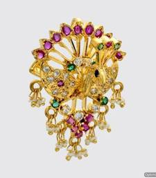 ROYAL PEACOCK MULTI STONE STUDDED LOCKET & HAIRPIN (2 IN 1) - PCL1004 shop online