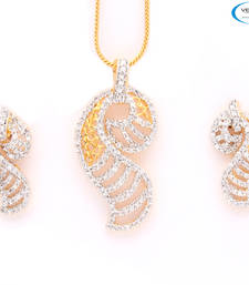 Buy Eye catchy diamond pendant set Pendant online