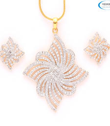 Buy Creative American diamond pendant set Pendant online