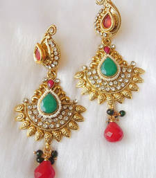 Buy lovely antique earrings  south-indian-jewellery online