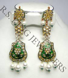 Buy kundan meena jewellery danglers-drop online