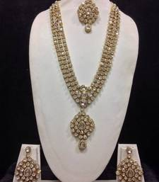 Buy Long Designer Jewelry Set in White necklace-set online