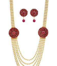 Buy ANTIQUE GOLDEN NECKLACE SET necklace-set online