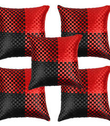 Buy Stuninng Red Black Cushion Covers-set of 5 pillow-cover online