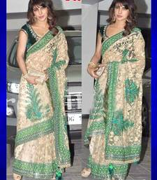 Buy Bollywood  Replica Priyanka chopra net saree priyanka-chopra-saree online