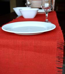 Buy Eco Home Jute Table Runner - Red table-mats-and-runner online