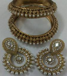 Buy Designer Earings with Traditional Kadas bangles-and-bracelet online