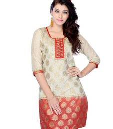 Buy Designer party wear kurti made from jacquard kurtas-and-kurti online