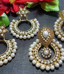 Buy Buy 2 pearl polki earring set danglers-drop online