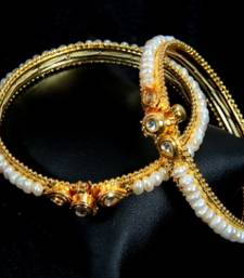 REAL PEARLS KUNDAN N PEARLS BANGLES FROM HYDERABAD shop online