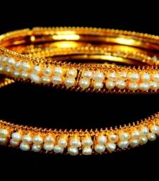 REAL PEARLS DOUBLE LINE SEED PEARLS BANGLE HYDERABAD  shop online
