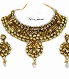 Buy Kundan Golden Choker Set necklace-set online