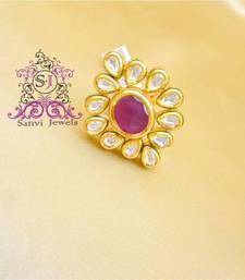 Buy Gorgeous Ruby Kundan Meenakari Adjustable Ring Ring online