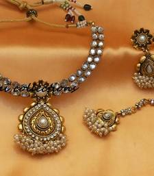 Buy lovely antique necklace south-indian-jewellery online
