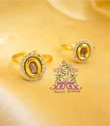 Buy Kundan Rhodolite Adjustable Toe ring Ring online
