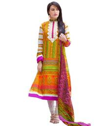 Buy AARYA Pure Lawn Cotton Multi Color Designer Dress Material Diwali discount offers dress-material online