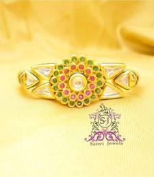 Buy Kundan Ruby & Emerald Openable Kada bangles-and-bracelet online
