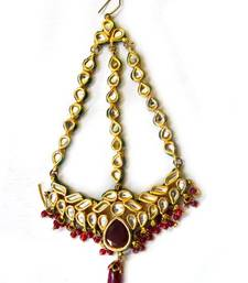 Buy Kundan Red Jhumar maang-tikka online