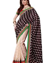 Buy Black Crape Jacquard And Art Kora Exclusive Partywear  Saree crepe-saree online