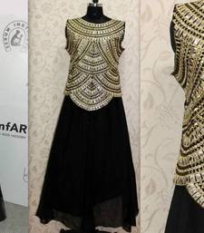 Buy Get this amazing Nargis Fakhri ethnic black dress  silk-saree online