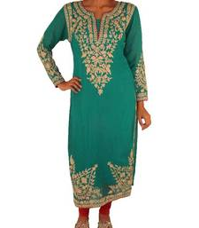 Buy Turquoise green Pakistani style suit salwars-and-churidar online